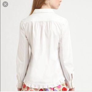 Kate Spade | Maricel White Button-up Blouse